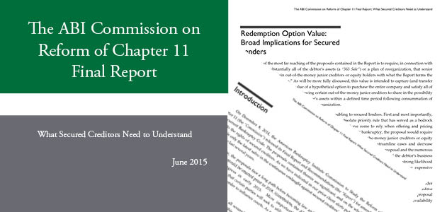 ABI Commission on Reform of Chapter 11 White Paper