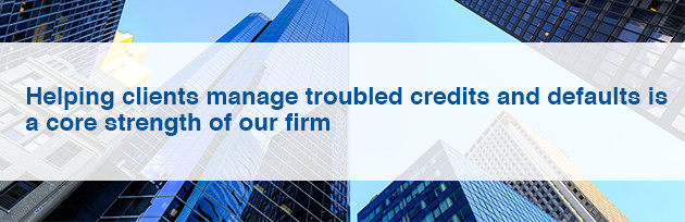 Helping clients manage troubled credits and defaults is a core strength of our firm