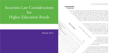 Securities Law Considerations for Higher Education Bonds