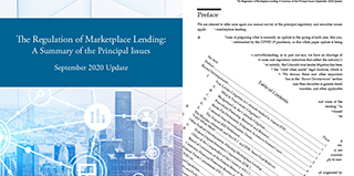 The Regulation of Marketplace Lending
