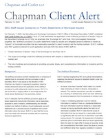 SEC Staff Issues Guidance on Public Statements of Municipal Issuers